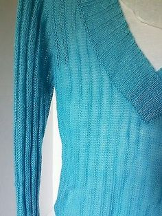 Womens One Step Up Baby Blue Sweater Large