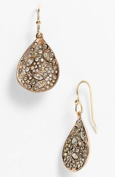 crystal encrusted teardrop earrings