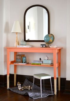 DIY color-dipped sideboard. Bring a trend into your home with an inexpensive project.