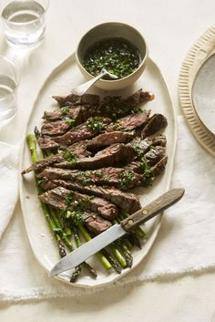 Cilantro-Lime Chimichurri Grilled Steak