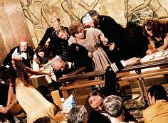 Infamous Ballroom scene as the SS Poseidon begins to capsize The Towering Inferno, Carol Lynley, The Poseidon Adventure, Stella Stevens, Ernest Borgnine, Shelley Winters, Irwin Allen, Disaster Movie, Movie Posters