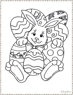 Easter Bunny Printable Coloring Pages for Kids Activities