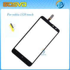 Replacement For Nokia Lumia 1320 touch digitizer lcd screen glass with flex cable 1 piece free shipping black color +free tools