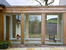 Garage Extension, Cottage Extension, House Extension Design, Glass Extension, House Design, Oak Framed Extensions, House Extensions, Glass Walkway, Glass Bridge