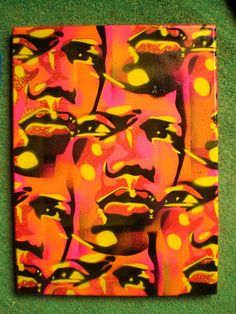 canvas of mans facestencils & by AbstractGraffitiShop on Etsy, $60.00