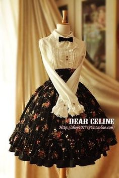 New skirt black outfit gothic lolita ideas Kawaii Fashion, Lolita Fashion, Cute Fashion, Vintage Fashion, Women's Fashion, Pretty Outfits, Pretty Dresses, Beautiful Dresses, Cute Outfits