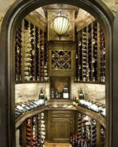 Wine Rooms by Jane Page Design Group. Somebody lock me in and throw away the key! Billards Room, Wine Cellar Design, Built In Bar, Wine Down, Wine And Beer, Wine Storage, Fine Wine, Cool Rooms, Bars For Home