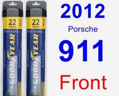 Front Wiper Blade Pack for 2012 Porsche 911 - Assurance