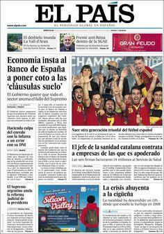 Los Titulares y Portadas de Noticias Destacadas Españolas del 19 de Junio de 2013 del Diario El País ¿Que le parecio esta Portada de este Diario Español?