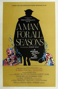BEST PICTURE -- 1966 A Man for All Seasons movie poster).gif Directed by Fred Zinnemann Produced by Fred Zinnemann Written by Robert Bolt Starring Paul Scofield Wendy Hiller Leo McKern Orson Welles Robert Shaw Susannah York Oscar Best Picture, Best Picture Winners, West Side Story, Great Films, Good Movies, Fred Zinnemann, Susannah York, Les Oscars, Robert Shaw