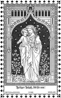 Tea at Trianon: Litany to the Holy Heart of St. Catholic Theology, Catholic Art, Religious Art, Christian Drawings, Christian Art, Litany Of St Joseph, Gothic Revival Architecture, Catholic Pictures, Biblical Art