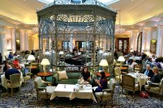 Afternoon tea at The Savoy, Strand London (scones, sandwiches, chocolate and banana cake) Make reservations ahead of time. English Afternoon Tea, Jazz Bar, Savoy Hotel, London Food, England And Scotland, London Hotels, Hotel Lobby, London Travel, Study Abroad