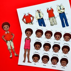 emotion paper doll boy printable craft for kids to learn about Printable Board Games, Boy Printable, Printable Crafts, Crafts To Make, Easy Crafts, Crafts For Kids, Emotions Game, Emotional Child, Dress Up Dolls