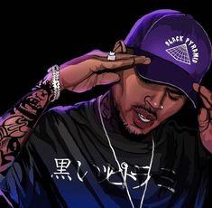 Chris Brown Art, Chris Brown Videos, Chris Brown Pictures, Chris Brown Style, Breezy Chris Brown, Chris Brown Quotes, Arte Do Hip Hop, Hip Hop Art, Dope Cartoons