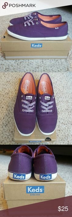 Keds Champion CVO Seasonals Plum Purple ♡ These shoes look brand new and have only been worn once. I bought them a few seasons ago but haven't worn them that much. Keds Shoes Sneakers