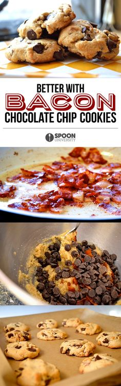 Bacon Chocolate Chip Cookies | 30 Bacon Recipes That Prove It's The Best Food On Earth