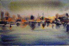Marina impresionista. Pintado por el pintor copiapino Juan Carlos Aguirre Carrasco.