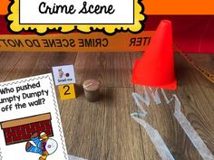 This Humpty Dumpty crime scene activity pack is a great addition to your Humpty Dumpty - or Nursery Rhyme - themed topic. People Who Help Us, Humpty Dumpty, Off The Wall, Eyfs, Nursery Rhymes, Teaching Resources, Crime, Police, Scene