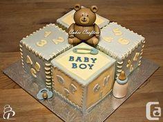 bear and blicks baby shower cake for boys - Google Search