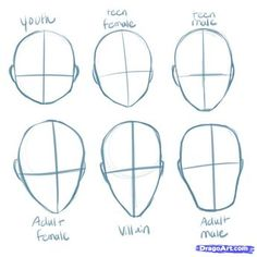 anime+step+by+step+drawing+head | How to Draw Manga Heads, Step by Step, Anime Heads, Anime, Draw ...