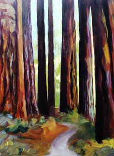 Walk in the Redwoods by Joan Frimberger