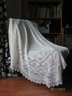 baby shawl - shetland lace made with silk/merino blend