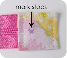 Covering Zipper Ends - a helpful tutorial to use with the Noodlehead Open Wide Pouch. Tutorial from Keyka Lou.