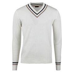 Off-White Textured Varsity Merino V-neck White Texture, Spring And Fall, Spring Outfits, Off White, Knitwear, Men Sweater, V Neck, Denim, Clothing