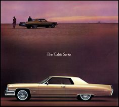 Sales literature for the 1973 Cadillac line, featuring the Calais series.