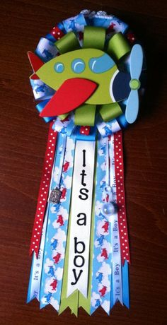 baby shower corsages | Airplane Baby Shower Corsage on Etsy, $25.00