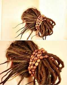 Beaded hair elastic for my dreads