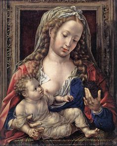 Jan Gossaert or Jan Mabuse (1478-1532) — Madonna and Child (1041x1300)
