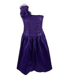 Ruby Rox 716 OneShoulder SequinEmbellished Dress #Dillards