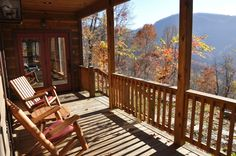 The view from the screened porch at Millstone Lodge.