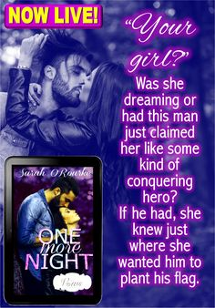 amzn.to/2ny9QJN One More Night is live! Meet Shaw and swoon! #SexVowsBabiesKW @SarahORourke99 #Novella #KindleWorld