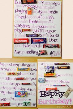 About birthday candy grams on pinterest candy grams candy bar poems