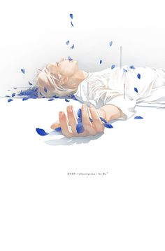 blue petals