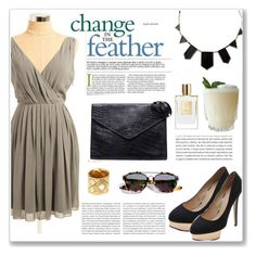 Change in the feather by snobswap on Polyvore featuring polyvore fashion style Paul Smith Charlotte Olympia Fendi House of Harlow 1960 Chanel Christian Dior Oris clothing