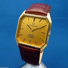 VINTAGE 18k GOLD OMEGA CONSTELLATION AUTOMATIC WRISTWATCH-2000 EURO