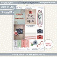 #PP/182-19/PPC - Print& Play Memory Keeper Pretty Pocket Card Kit