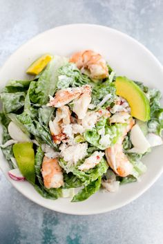 Crab, Shrimp, Avocado, Parmesan, lemon/lime, horseradish, green onions, cream cheese thinned with chili sauce
