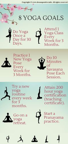 Challenge yourself to make yoga part of your routine! www.yogatraveltree.com #findyouryoga #yoga #goals