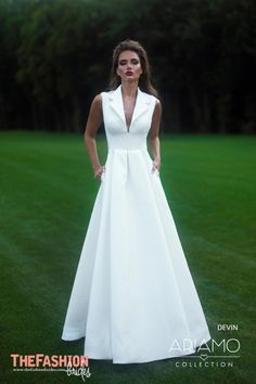 Inspired by the Carolina Herrera trend of a ballgown skirt worn with a sharp white shirt the bridal designers have created a stylish silhouette perfect for the original and fun loving bride. Please…