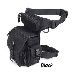 Carry everything on your side with the Outdoor Multifunctional Tactical Leg Bag. Perfect for storing cell phone, keychain, GPS device, digital cameras, medical supplies, tools, and everything else you