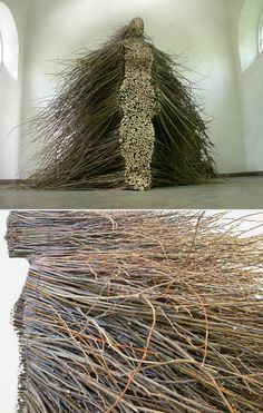 olga ziemska - Stillness in motion - Locally reclaimed willow branches and wire