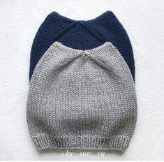 Котошапка от by_suv_yu Crochet Winter, Baby Knitting, Baby Dress, Beret, Knitted Hats, Winter Hats, Beanie, Handmade, Dresses
