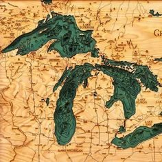 Great Lakes Wood Chart Map – Living Mactavish