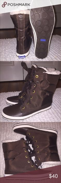 Snow boots never worn Brown Keds snow boots Keds Shoes Winter & Rain Boots