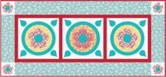 from ConnectingThreads.com FLOWER TOSS TABLE RUNNER FREE DOWNLOAD