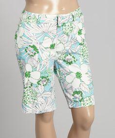 Caribbean Joe $29.99  Cute. Swimming Pool Cruise Control Bermuda Shorts - Plus #zulily #zulilyfinds